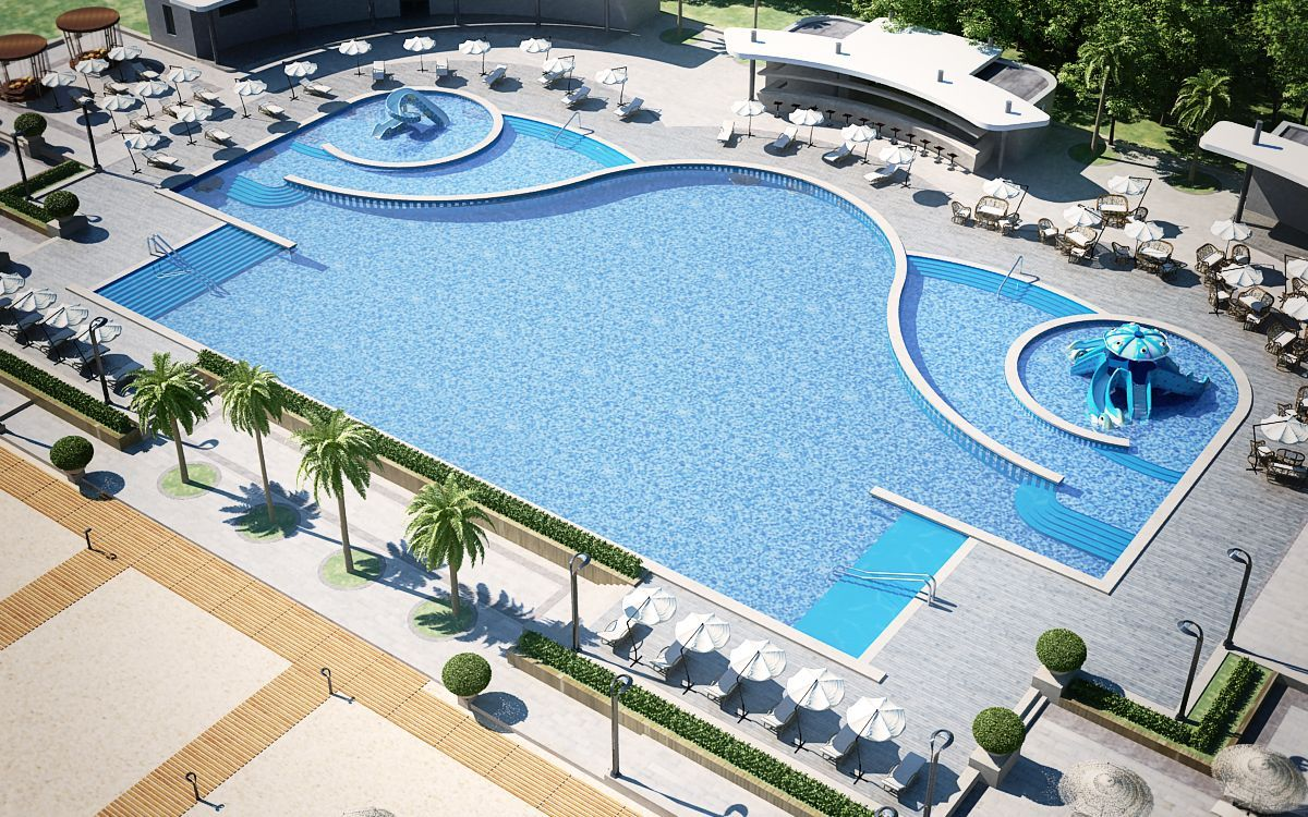 Swimming pool complex