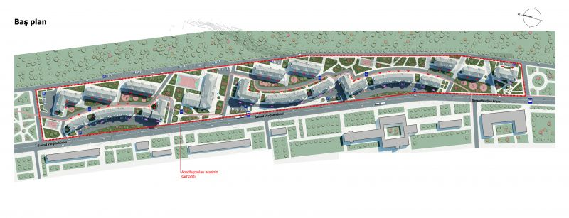 Architectural and urban project of residential complex on Pirallahi District